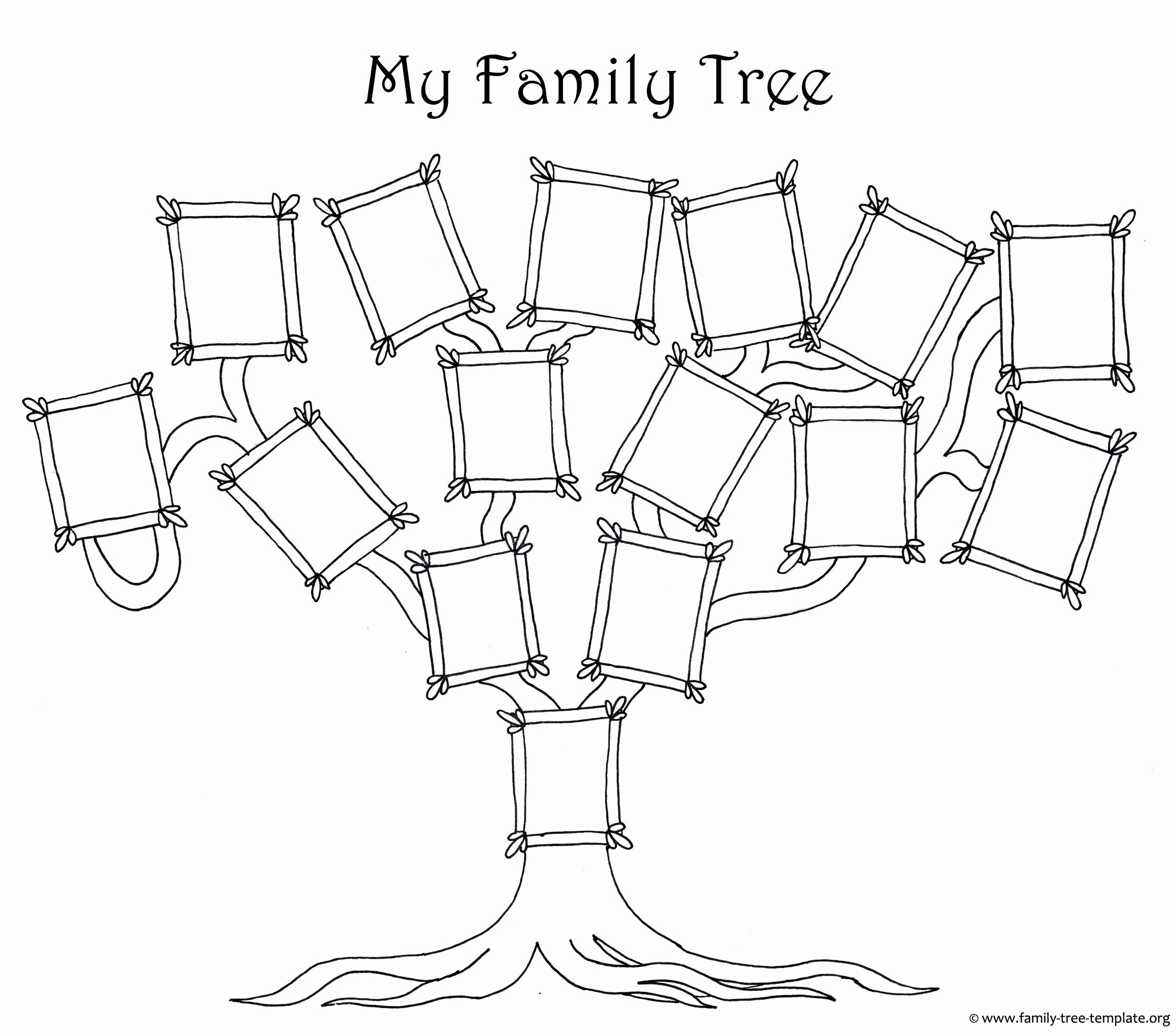 Family Tree with Pictures Template Fresh Coloring Page for Kids A Simple Fun Family Tree Chart