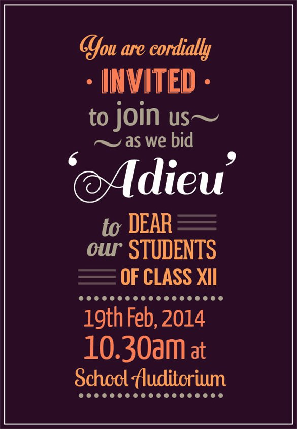 Farewell Invitation Template Free Awesome Farewell Party Invitation Template – 20 Free Psd format
