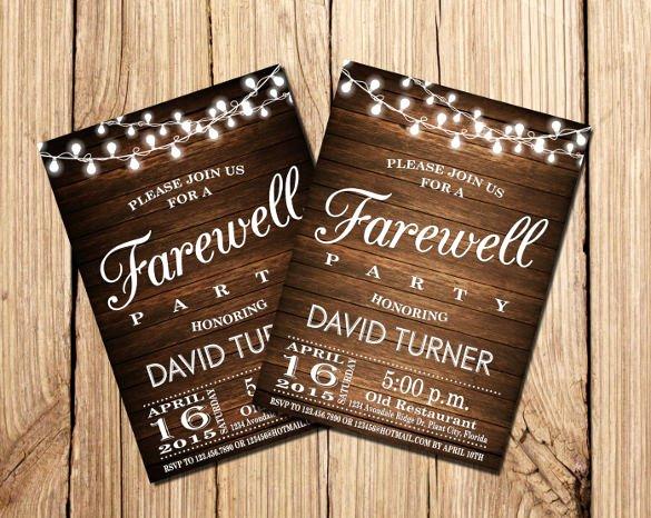 Farewell Invitation Template Free Beautiful Sample Farewell Invitation Template 8 Download