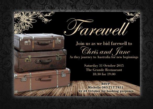 Farewell Invitation Template Free Elegant Sample Farewell Invitation Template 8 Download