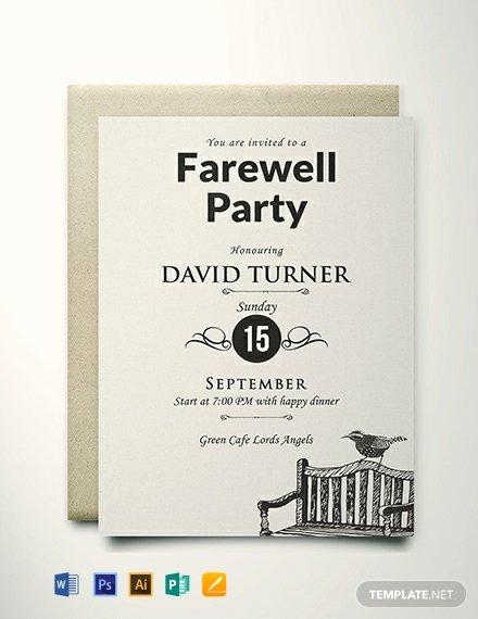 Farewell Invitation Template Free Fresh Free Vintage Farewell Party Invitation Template Download