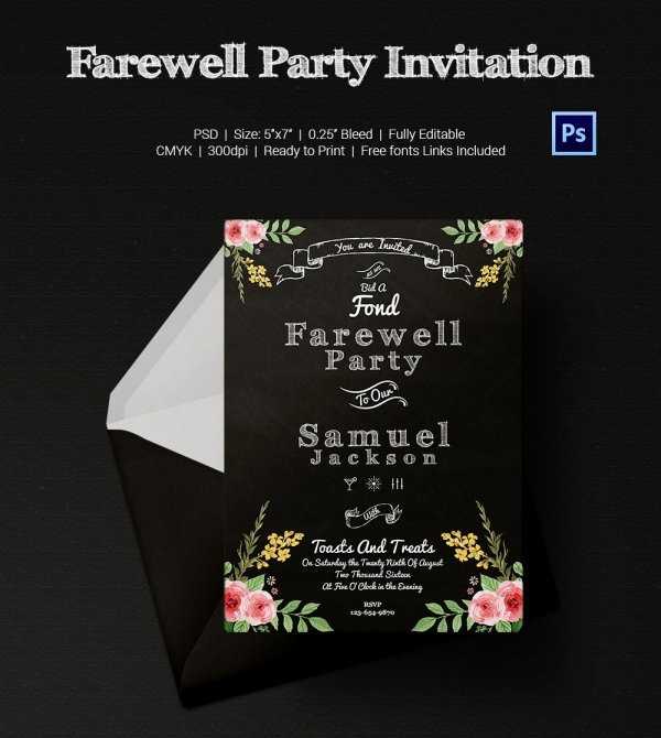 Farewell Invitation Template Free Inspirational Farewell Party Invitation Template 25 Free Psd format