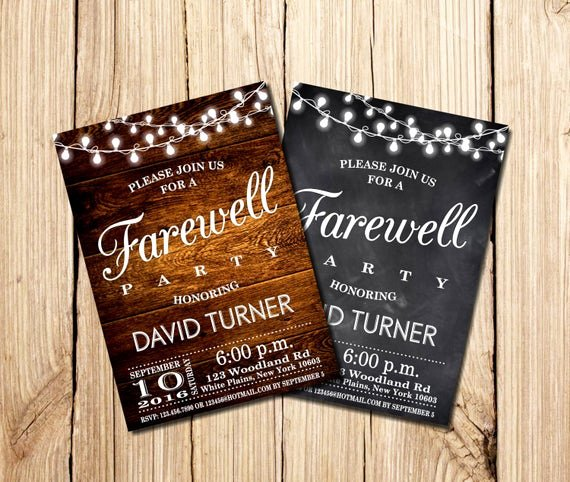 Farewell Invitation Template Free Lovely Farewell Party Invitation Farewell Invitation Rustic