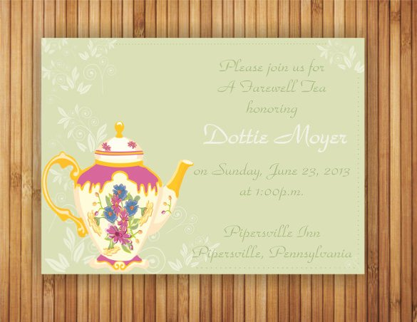 Farewell Invitation Template Free Lovely Sample Farewell Invitation Template 8 Download