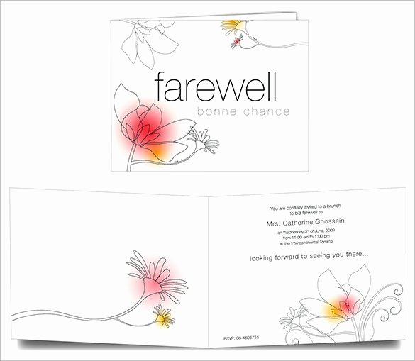 Farewell Invitation Template Free Luxury 16 Farewell Card Template Word Pdf Psd Eps