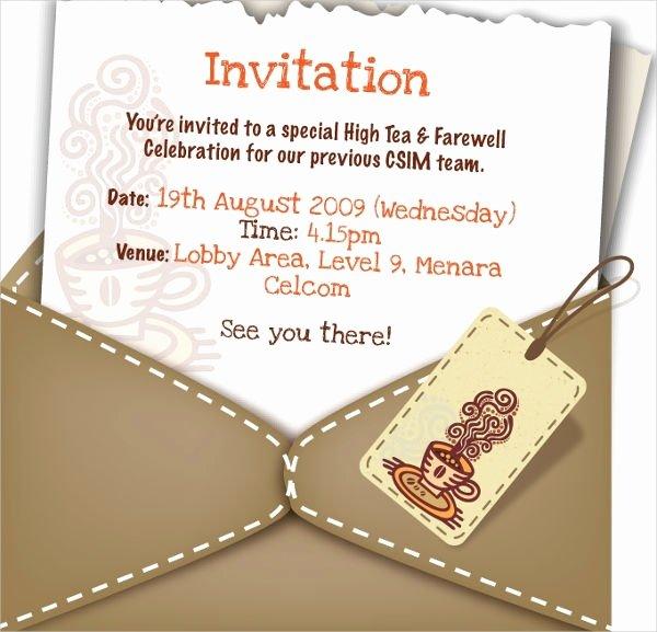 Farewell Invitation Template Free Luxury Farewell Invitation Template Cobypic