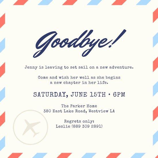 Farewell Invitation Template Free New Customize 2 419 Farewell Party Invitation Templates