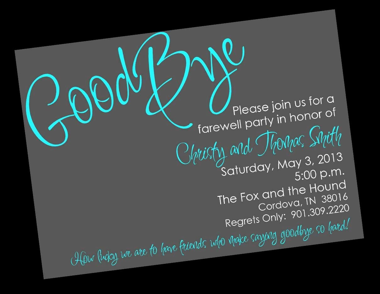 Farewell Invitation Template Free New Free Printable Invitation Templates Going Away Party