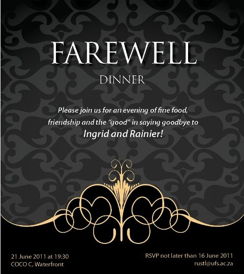 Farewell Invitation Template Free New Gallery