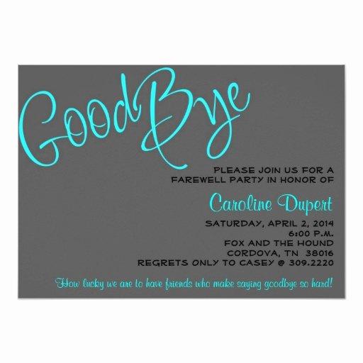 Farewell Invitation Template Free Unique Farewell Invitation