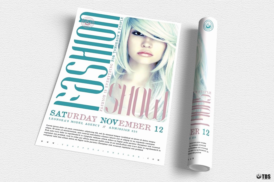 Fashion Show Program Templates Awesome Fashion Show Flyer Template V2