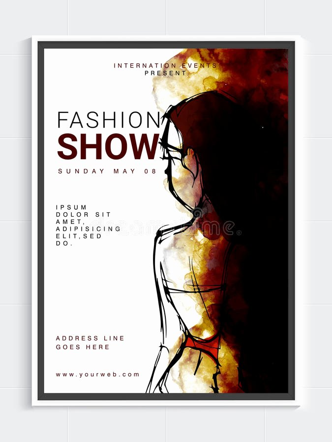 Fashion Show Program Templates Beautiful Fashion Show Template Banner Flyer Design Stock