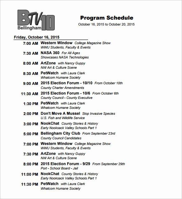 Fashion Show Program Templates Lovely 14 Program Schedule Templates Docs Pdf