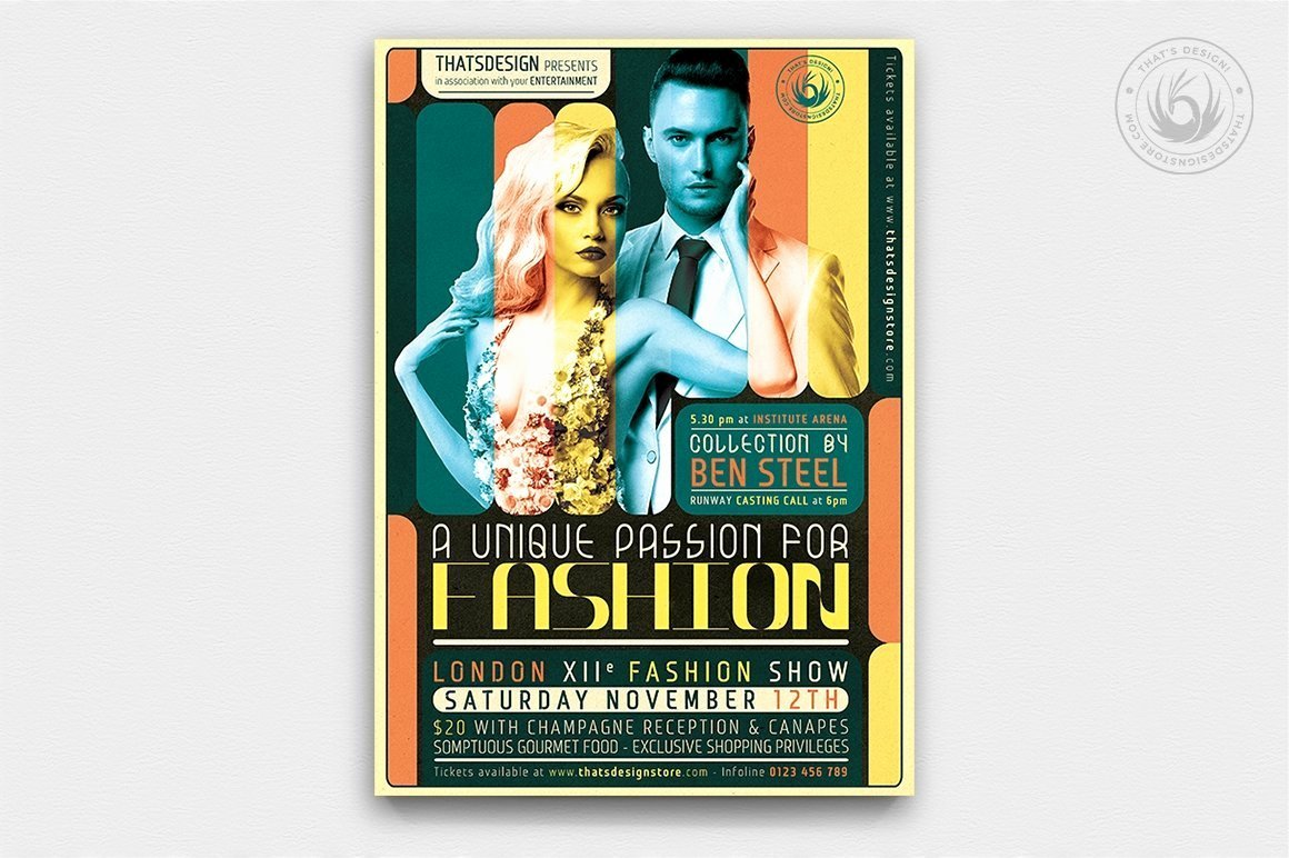 Fashion Show Program Templates Lovely Fashion Show Flyer Template