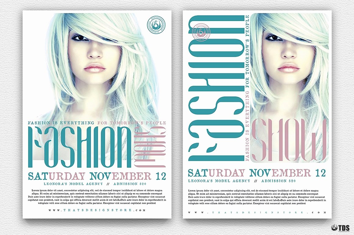 Fashion Show Program Templates Lovely Fashion Show Flyer Template V2