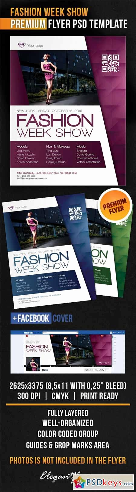 Fashion Show Program Templates Lovely Fashion Week Show – Flyer Psd Template Cover