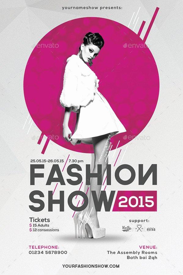 Fashion Show Program Templates Luxury Fashion Show Flyer by Vorsa