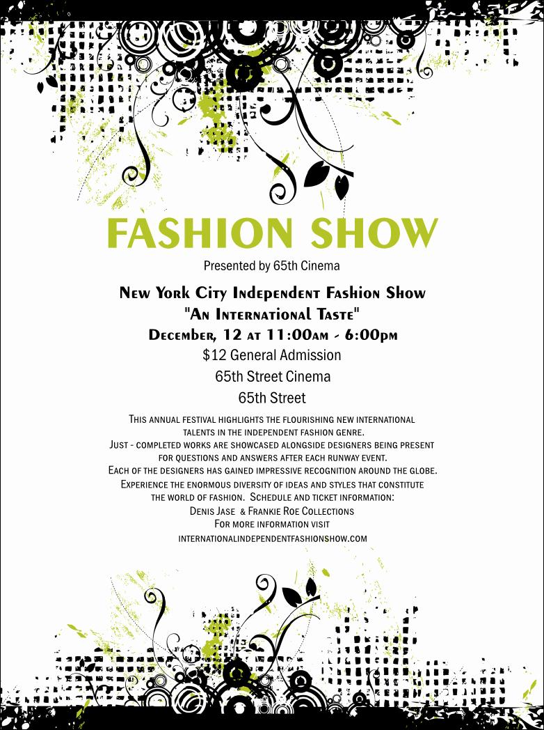 Fashion Show Program Templates Luxury Fashion Show Flyer