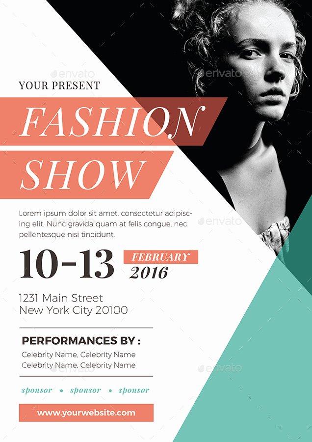 Fashion Show Program Templates New Fashion Show Flyer by Vynetta