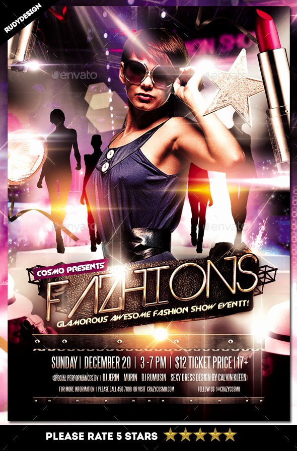 Fashion Show Program Templates Unique Fashion Show Flyer by Rudydesign
