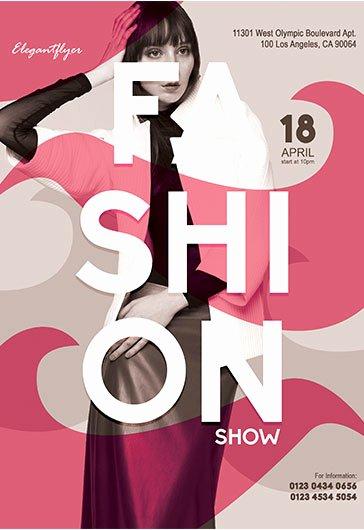 Fashion Show Program Templates Unique Fashion Show – Flyer Psd Template – by Elegantflyer