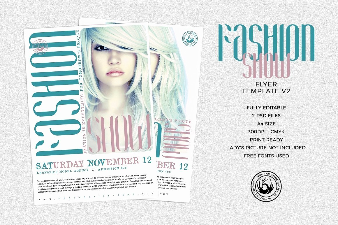Fashion Show Programme Template Fresh Fashion Show Flyer Template V2