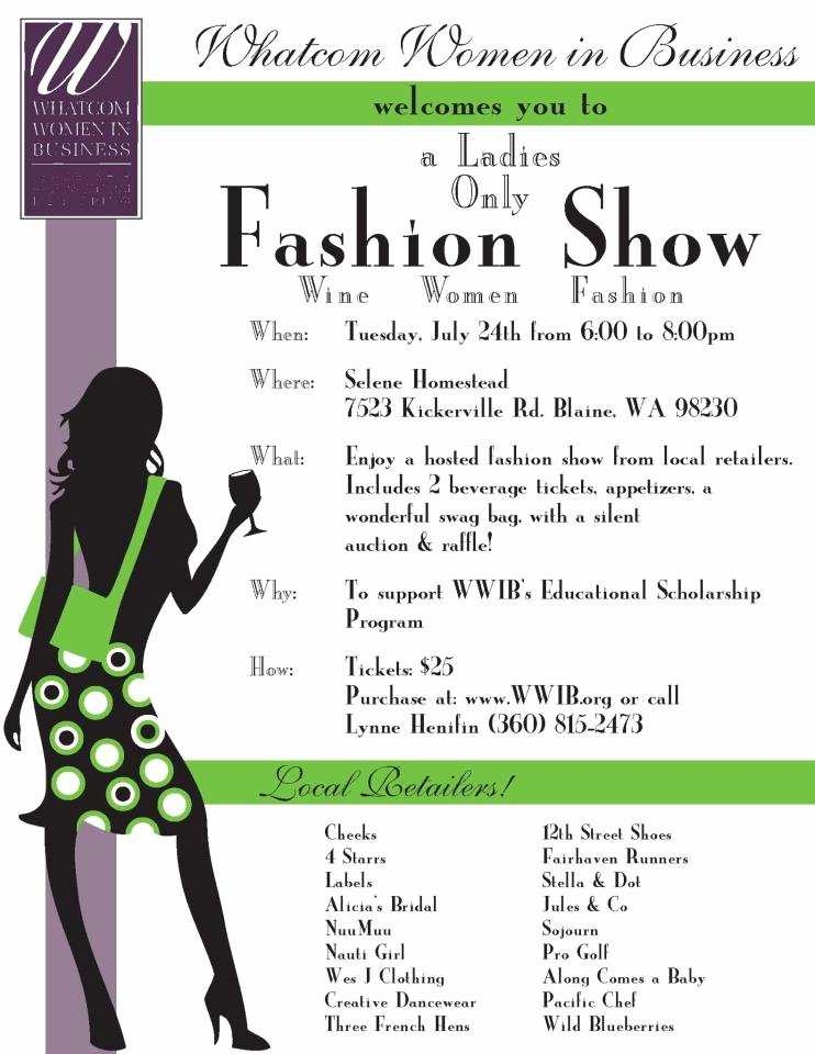 Fashion Show Programme Template New Wes J Clothing