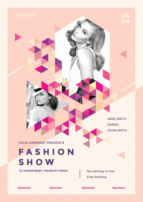 Fashion Show Programme Template Unique 16 Fashion Show Flyer Templates In Word Psd Ai Eps