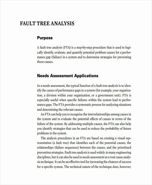 Fault Tree Analysis Template Awesome 11 Fault Tree Analysis Examples & Samples Word Pdf