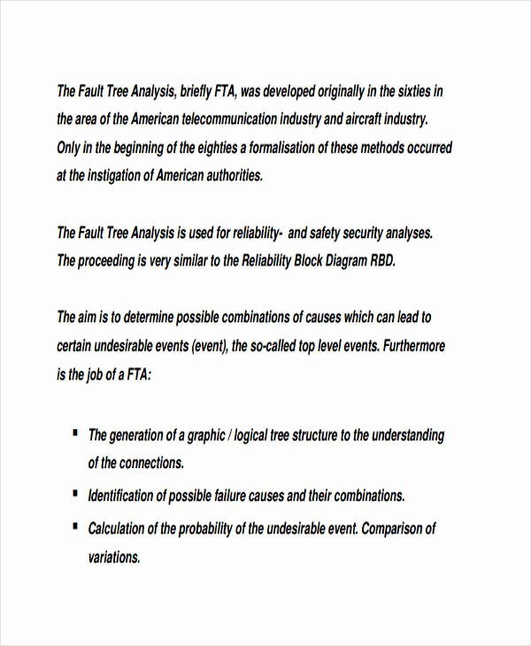 Fault Tree Analysis Template Best Of 11 Fault Tree Analysis Examples & Samples Word Pdf