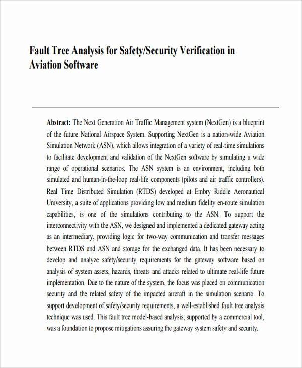 Fault Tree Analysis Template Fresh 11 Fault Tree Analysis Examples & Samples Word Pdf