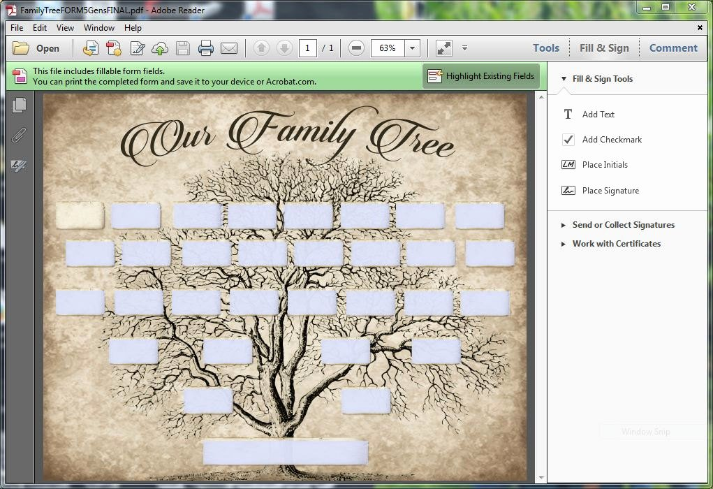 Fillable Family Tree Template Beautiful Custom Family Tree Printable 5 Generation Template Instant