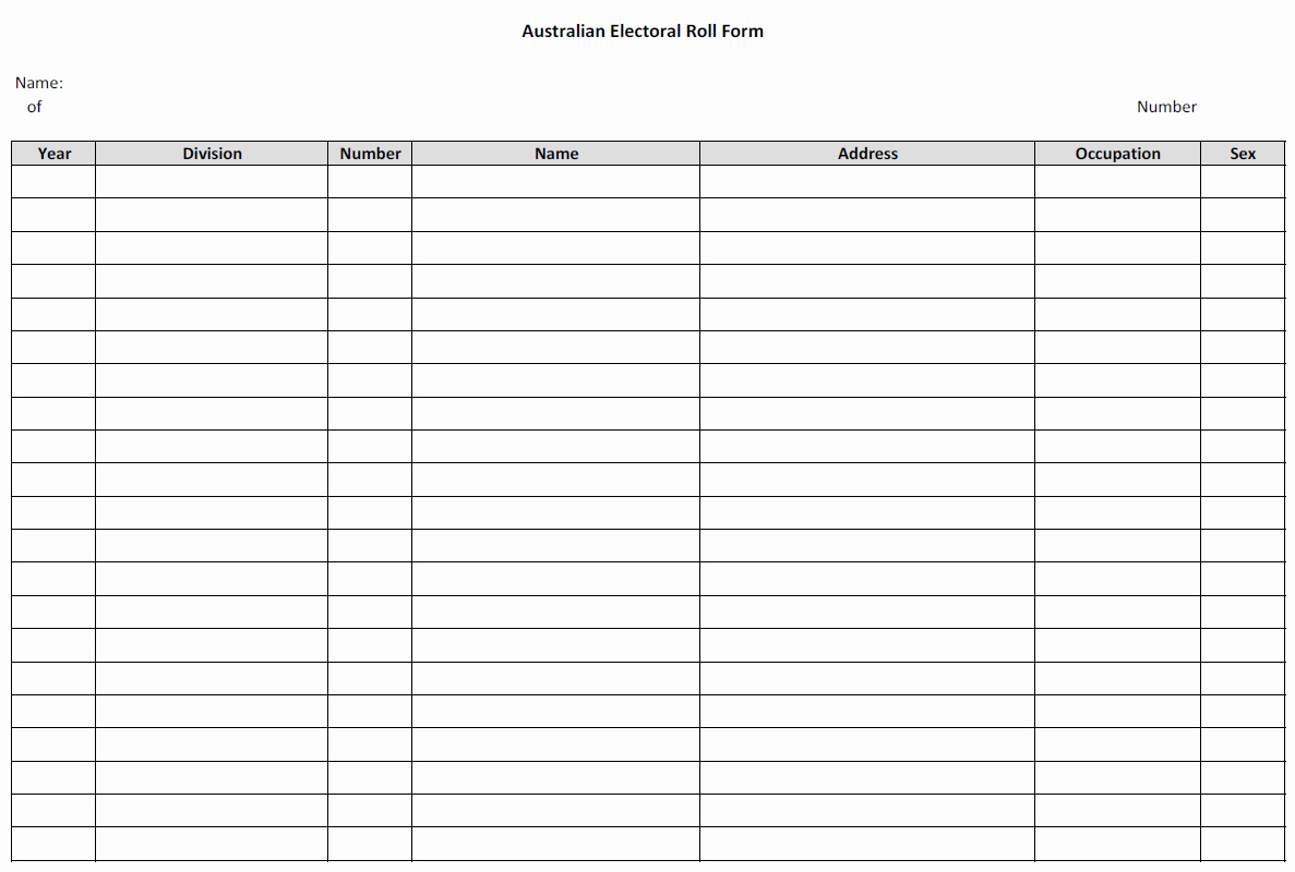 Fillable Family Tree Template Inspirational Free Fillable Genealogy forms Australian Electoral