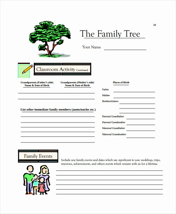 Fillable Family Tree Template Luxury 19 Family Tree Templates