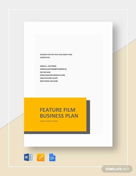 Film Business Plan Template Lovely Sample Business Plan 11 Documents In Word P