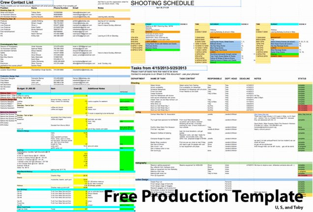 Film Production Schedule Template Beautiful How to Make Your First Serious Short – at Uc Berkeley