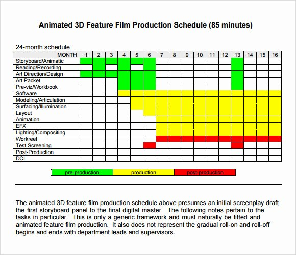 Film Production Schedule Template Unique Sample Shooting Schedule 12 Documents In Pdf Word Excel