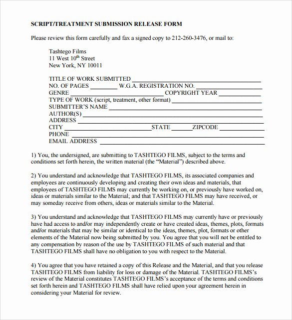 Film Release form Template Awesome Sample Release form 9 Download Documents In Pdf