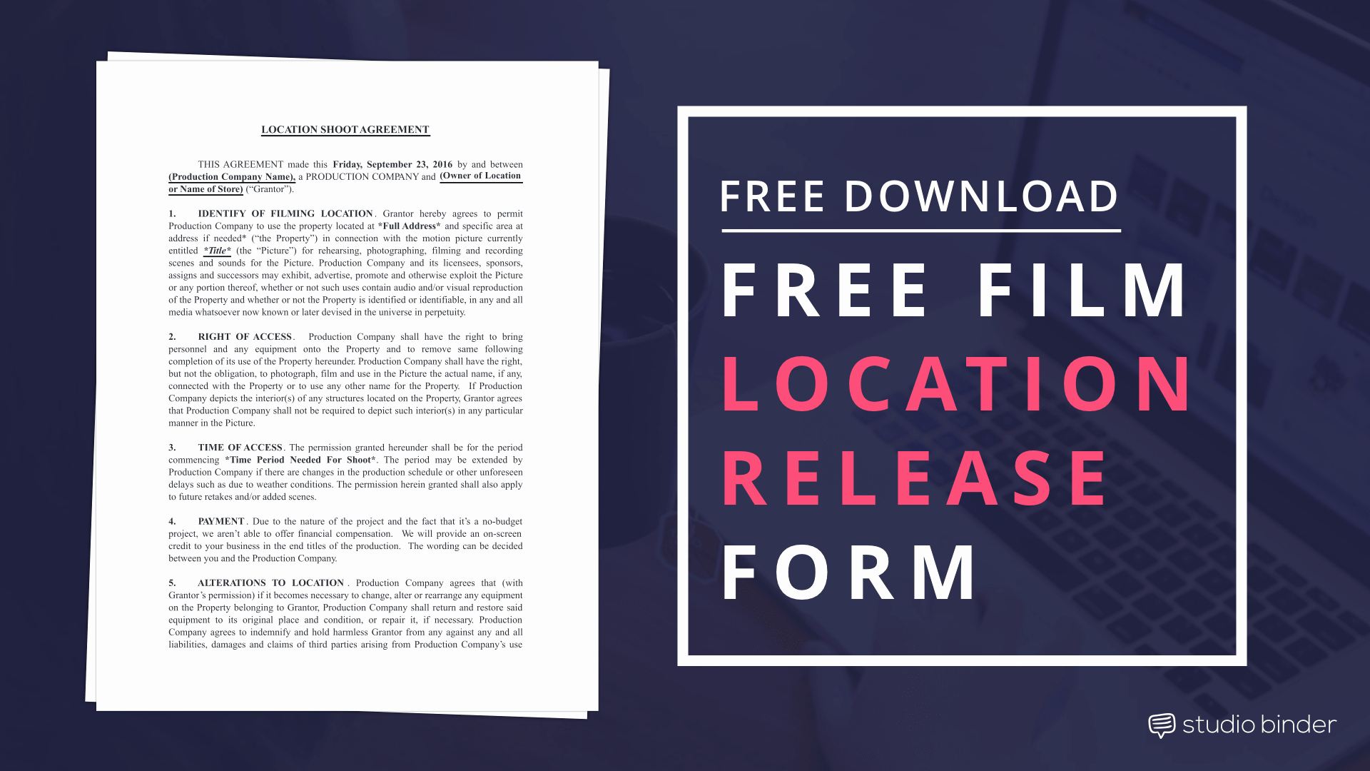 Film Release form Template Luxury Download Your Free Making Production Documents and