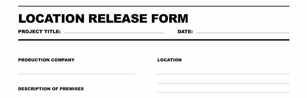 Film Release form Template Luxury Free Download Location Release form