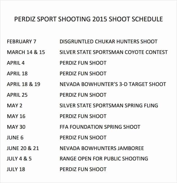 Film Shooting Schedule Template Best Of Shooting Schedule Templates