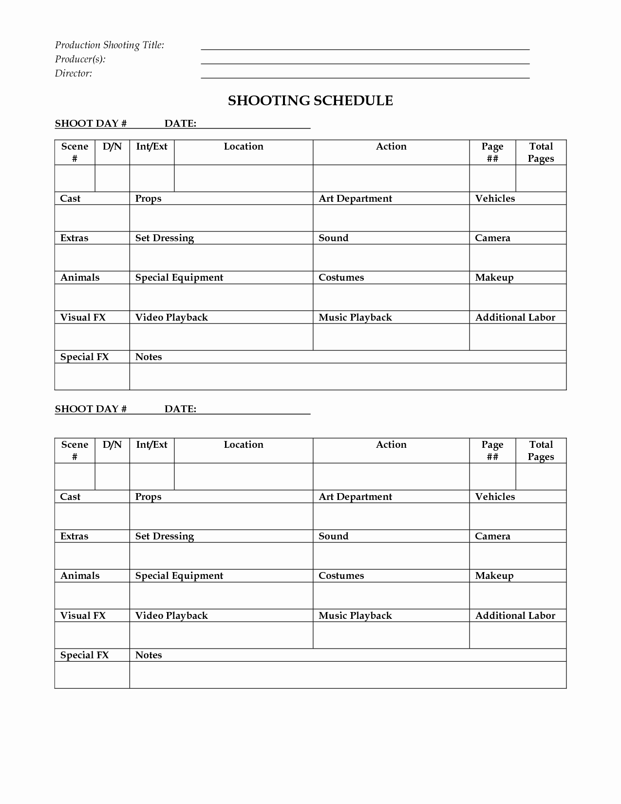 Film Shooting Schedule Template Fresh Shooting Schedule Template 72 Hour Fest