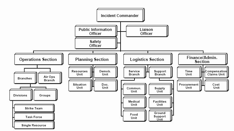 Fire Department organizational Chart Template Inspirational Incident Mand System