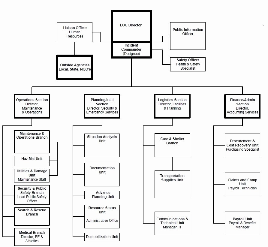 Fire Department organizational Chart Template New Eoc organization and Responsibilities Los Angeles Valley