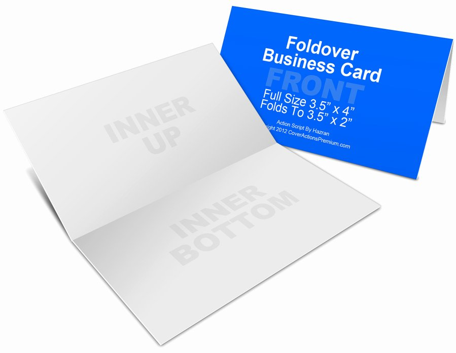 Fold Over Place Card Template Awesome Foldover Business Card Mockup