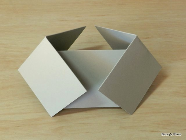 Fold Over Place Card Template Beautiful Beccy S Place Tutorial Double Diamond Fold Card