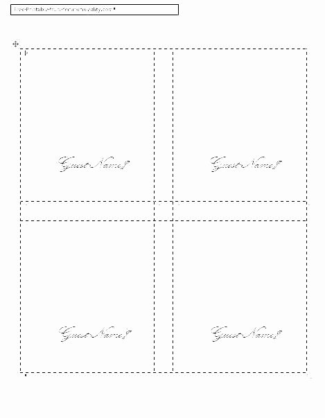 Fold Over Place Card Template Lovely Table Place Cards Template
