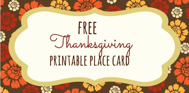 Fold Over Place Card Template Unique 23 Sets Of Free Printable Thanksgiving Place Cards