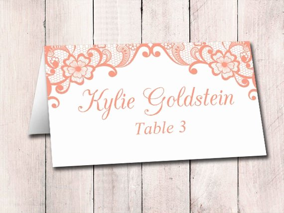 Fold Over Place Card Template Unique Lace Wedding Place Card Template Fold Over Escort Card