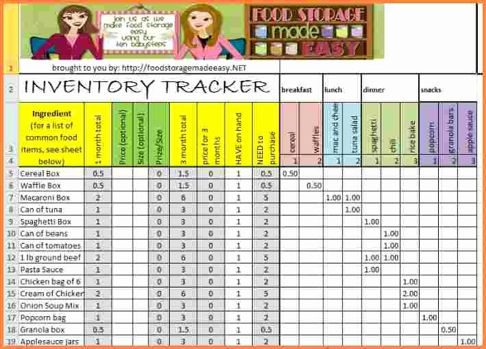 Food Inventory List Template Best Of 9 Clothing Inventory Spreadsheet